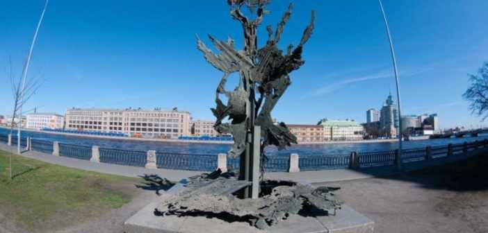 Памятник Альфреду Нобелю и завод Русский дизель